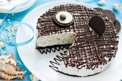Bolo de queijo engraçado do chocolate do bolo para o partido das crianças Imagens de Stock Royalty Free