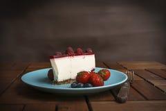Bolo de queijo fresco fotos de stock