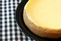 Bolo de queijo superior liso Fotos de Stock Royalty Free