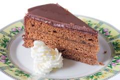 Bolo de Sacher Torte Fotografia de Stock