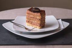 Bolo de Tiramisu Fotografia de Stock Royalty Free