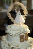 bolo de um aniversário de 50 anos Fotografia de Stock