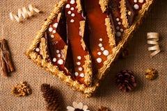 Bolo delicioso do biscoito com chocolate Fotos de Stock Royalty Free
