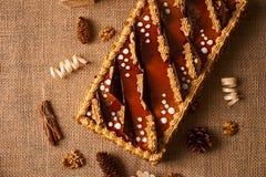 Bolo delicioso do biscoito com chocolate Fotos de Stock