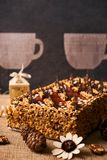 Bolo delicioso do biscoito com chocolate Imagem de Stock Royalty Free