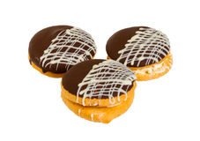 Bolo delicioso do biscoito com chocolate fotografia de stock royalty free