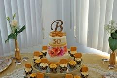 Bolo do aniversário Foto de Stock Royalty Free
