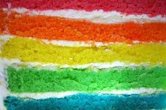 Bolo do arco-íris Foto de Stock