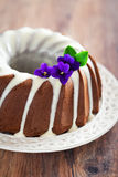 Bolo do bundt do chocolate Imagem de Stock