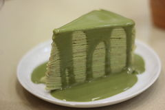 Bolo do chá verde Fotos de Stock