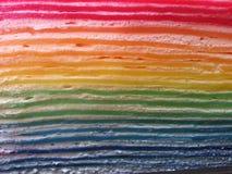 Bolo do crepe do arco-íris Imagem de Stock Royalty Free
