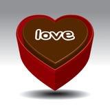 Bolo do dia do Valentim ilustração royalty free