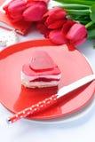 Bolo do dia do Valentim Imagem de Stock