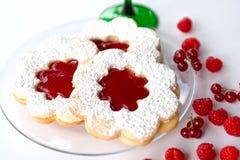 Bolo do doce de fruta (linzer) Foto de Stock