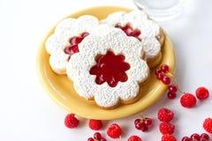 Bolo do doce de fruta (linzer) Fotografia de Stock