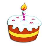 Bolo do feliz aniversario Imagens de Stock
