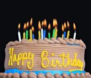 Bolo do feliz aniversario Foto de Stock