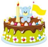 Bolo do feliz aniversario para o bebê Fotos de Stock