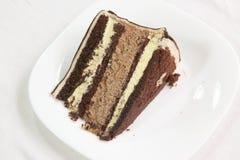 Bolo do fudge de chocolate Imagens de Stock