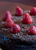Bolo do fudge de chocolate Fotografia de Stock