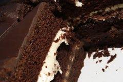 Bolo do fudge de chocolate Fotos de Stock Royalty Free