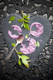 Bolo do gelado do mirtilo Foto de Stock Royalty Free