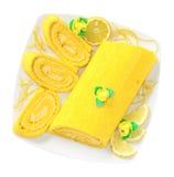 Bolo do limão imagem de stock
