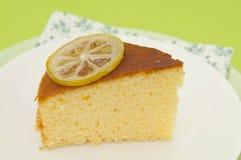 Bolo do limão Imagens de Stock Royalty Free