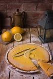 Bolo do limão doce Imagens de Stock