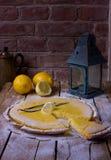 Bolo do limão doce Foto de Stock Royalty Free