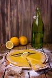Bolo do limão doce Fotos de Stock