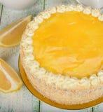 Bolo do limão Imagens de Stock