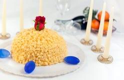 Bolo do Mimosa Imagem de Stock