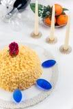Bolo do Mimosa Fotografia de Stock