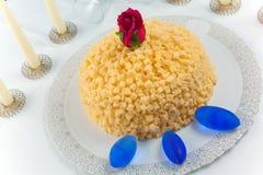 Bolo do Mimosa Foto de Stock Royalty Free