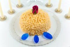 Bolo do Mimosa Fotografia de Stock Royalty Free