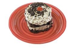 Bolo do mousse de chocolate Imagem de Stock Royalty Free