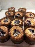 Bolo do muffin de blueberry imagem de stock royalty free