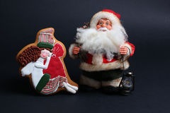 Bolo do pão-de-espécie do Natal Foto de Stock
