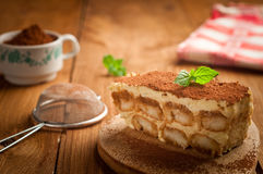 Bolo do Tiramisu Imagem de Stock Royalty Free