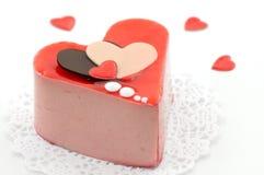 Bolo do Valentim Imagem de Stock