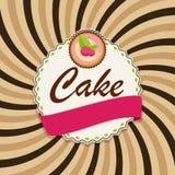 Bolo doce com Berry Menu Background Vetora Illustration Imagens de Stock