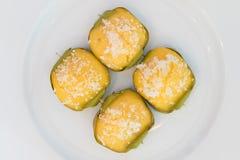 Bolo doce tailandês da palma de açúcar da sobremesa fotografia de stock