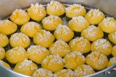 Bolo doce tailandês da palma de açúcar da sobremesa imagens de stock royalty free