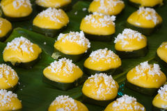 Bolo doce tailandês da palma de açúcar da sobremesa imagem de stock royalty free