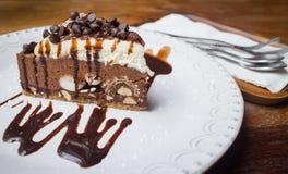 Bolo dos pedaços de chocolate Imagem de Stock