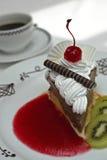 Bolo e café Imagens de Stock Royalty Free
