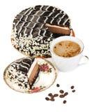 Bolo e café Imagem de Stock