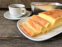 Bolo e café da manteiga Foto de Stock Royalty Free