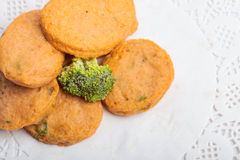 Bolo e mochi da pasta de peixes para a imagem japonesa do ingrediente de alimento Imagem de Stock